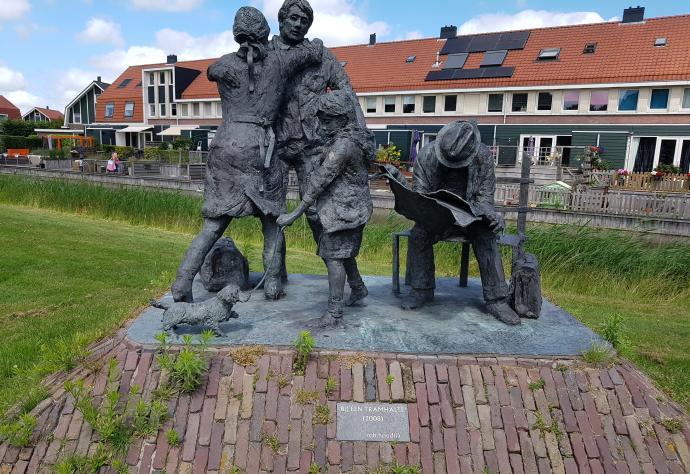 Kunstwerk in openbare ruimte, Bij een tramhalte (2008) van Rob Houdijk