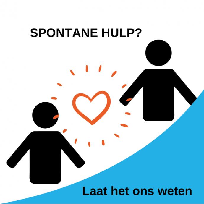 Spontane hulp? Laat het ons weten
