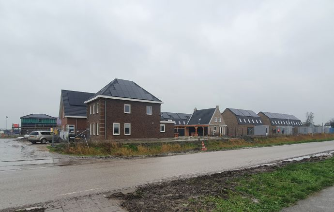 Foto van woningen die bijna klaar zijn