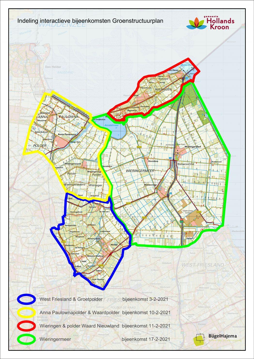 Deelgebieden Hollands Kroon